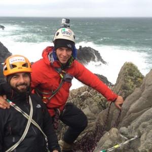 Serious Rock Climbing at Malin Head 2014