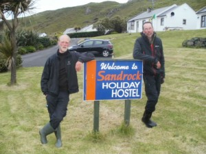 12th June 2015 two kayakers stop for the night at Hostel